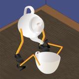 Tetera y taza Arte-vector Fotos de archivo libres de regalías