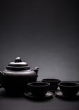 Tetera y tazas de té Imagen de archivo