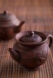 Tetera y tazas de té chinas Imagen de archivo libre de regalías