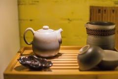 Tetera y tazas de té chinas Imagen de archivo