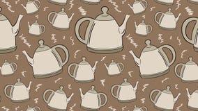 Teteras en un fondo marrón libre illustration