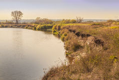 Teterev River bank forest-steppe zone Polissya (Ukraine) Stock Photo