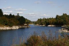 Teteriv flod royaltyfri foto