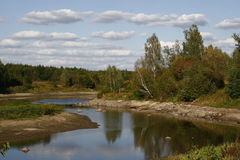 Teteriv flod fotografering för bildbyråer