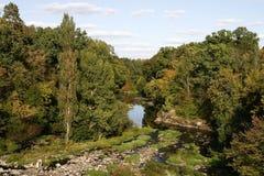 Teteriv flod arkivbild