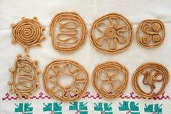 Teterki, Russian rye cookies for spring equinox selebration Stock Image