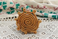 Teterki, Russian rye cookies for spring equinox selebration Royalty Free Stock Photography