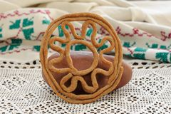 Teterki, Russian rye cookies for spring equinox selebration Royalty Free Stock Photos