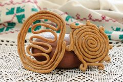 Teterki, Russian rye cookies for spring equinox selebration Stock Photo