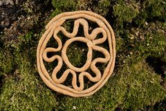 Teterki, Russian rye cookies for spring equinox selebration in n. Ature horizontal stock images