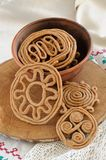 Teterki, Russian rye cookies for spring equinox selebration. Vertical stock photography