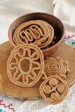 Teterki, Russian rye cookies for spring equinox selebration Stock Photography