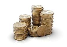 Free Tether. Cryptocurrency Golden Coins.3D Illustration Stock Image - 164661601