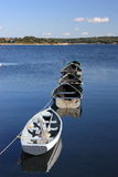 Tethered dories Stock Photography