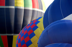 Tethered Hot Air Balloons Patterns and Curves Royalty Free Stock Image