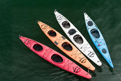 Tethered Kayaks Stock Photo