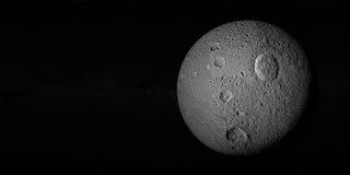 Tethys of Saturn III royalty-vrije stock afbeeldingen