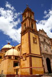 Tetla Atipa Principal Church. Principal view of the church of Tatla Atipa in Tlaxcala, mexico Royalty Free Stock Photo