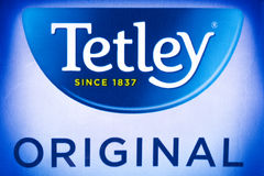 Tetley Oryginalne Herbaciane torby Obrazy Royalty Free