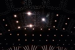 Teto com luzes Fotografia de Stock Royalty Free