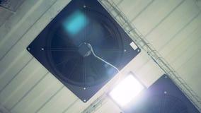 Teto com sistema de ventilação de funcionamento filme