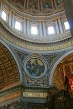 Teto da abóbada do Vaticano Imagem de Stock