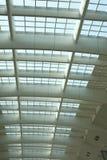 Teto da arquitetura da estação de comboio Foto de Stock
