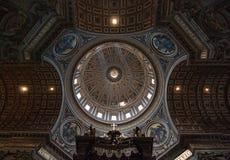 Teto da basílica de St Peters Fotografia de Stock