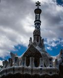 Teto da casa no parque da vara do ¼ do gÃ, Barcelona, spain fotos de stock
