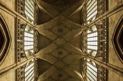 Teto da catedral gótico Foto de Stock Royalty Free