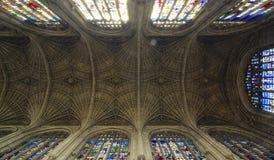 Teto da faculdade do ` s do rei, Cambridge imagem de stock royalty free
