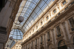 Teto da galeria Vittorio Emanuele II em Milão, Itlay Foto de Stock