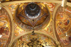 Teto da igreja - pinturas foto de stock royalty free