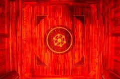 Teto da madeira do templo imagens de stock