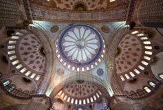 Teto da mesquita azul Imagem de Stock Royalty Free