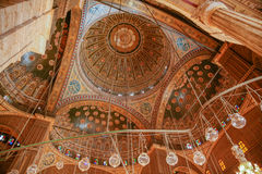 Teto da mesquita de Muhammad Ali no Cairo Egito Imagem de Stock