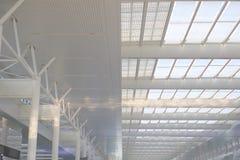 Teto de aço da arquitetura da estação de comboio Fotografia de Stock