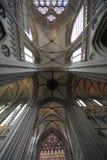 Teto de catedral de Caen imagens de stock