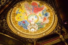 Teto de Chagall em Opera Paris França Imagens de Stock Royalty Free