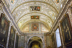 Teto de Guadalupe Monastery Sacristy e de Saint Jerome Chapel, Imagens de Stock