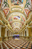 Teto de Italianate no Venetian, no hotel e no casino, Las Vegas, Imagens de Stock