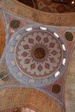 Teto decorado da mesquita azul Fotografia de Stock