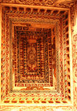 Teto decorativo do salão dharbar do salão do ministério no palácio do maratha do thanjavur Fotografia de Stock Royalty Free
