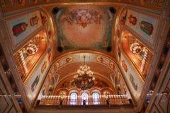 Teto dentro da catedral de Christ o salvador imagem de stock