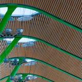 Teto do aeroporto do Madri foto de stock