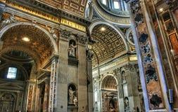 Teto do museu do Vaticano fotografia de stock