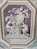 Teto do Vaticano, Bas Relief Biblical Scene fotos de stock