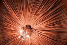 Teto e candelabro da decoração de matéria têxtil Imagens de Stock Royalty Free