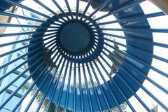 Teto espiral do metal foto de stock