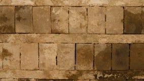 Teto feito de blocos do cocrete na construção abandonada velha Imagem de Stock Royalty Free